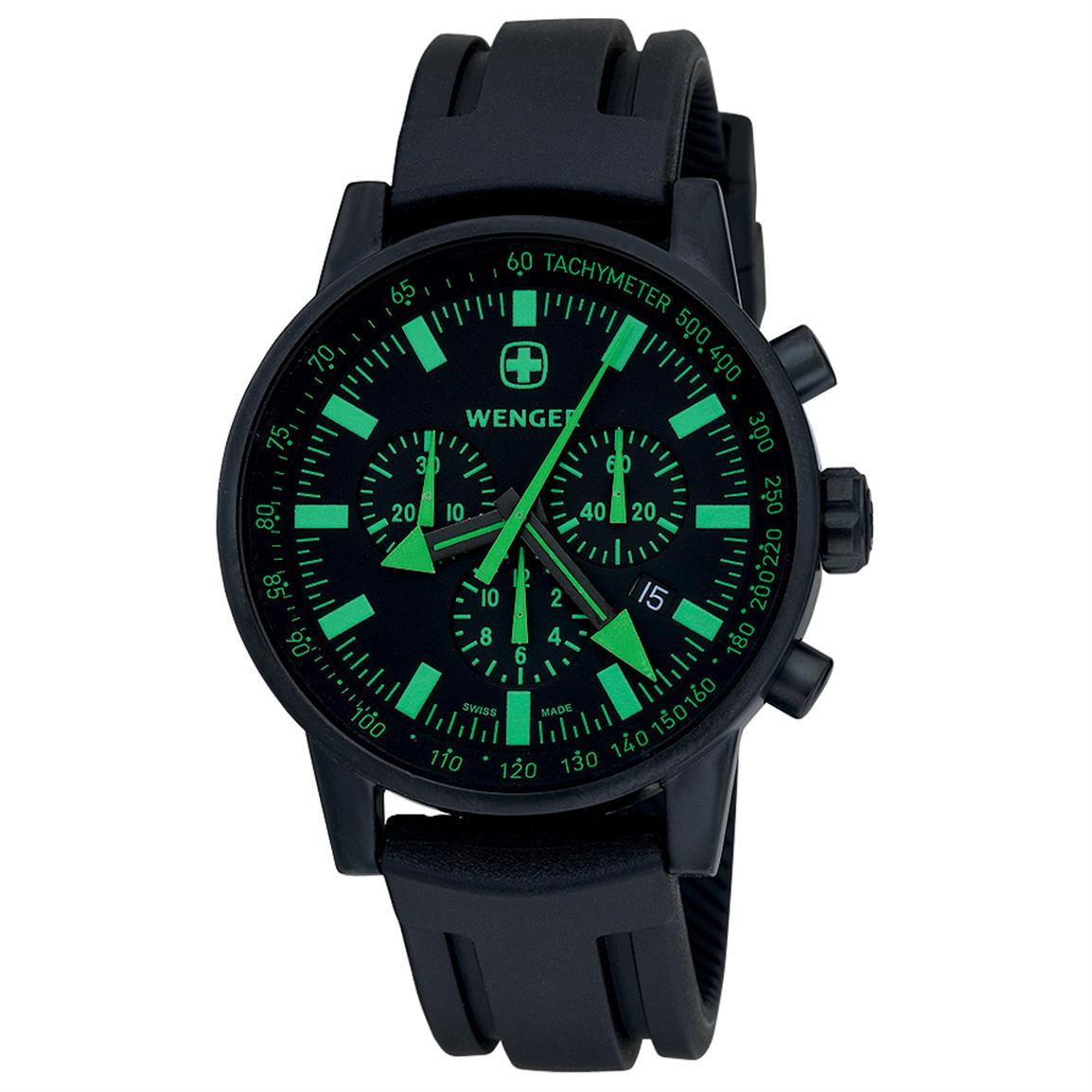 Men's Wenger® 70891 Swiss Raid Commando Watch, Green
