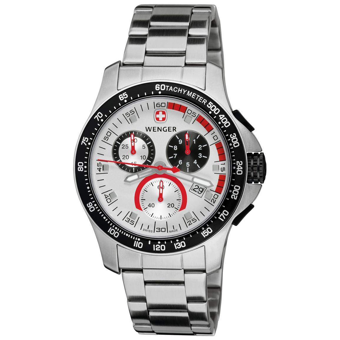 Wenger® 70797 Battalion® Field Chrono Watch with Stainless Steel Band