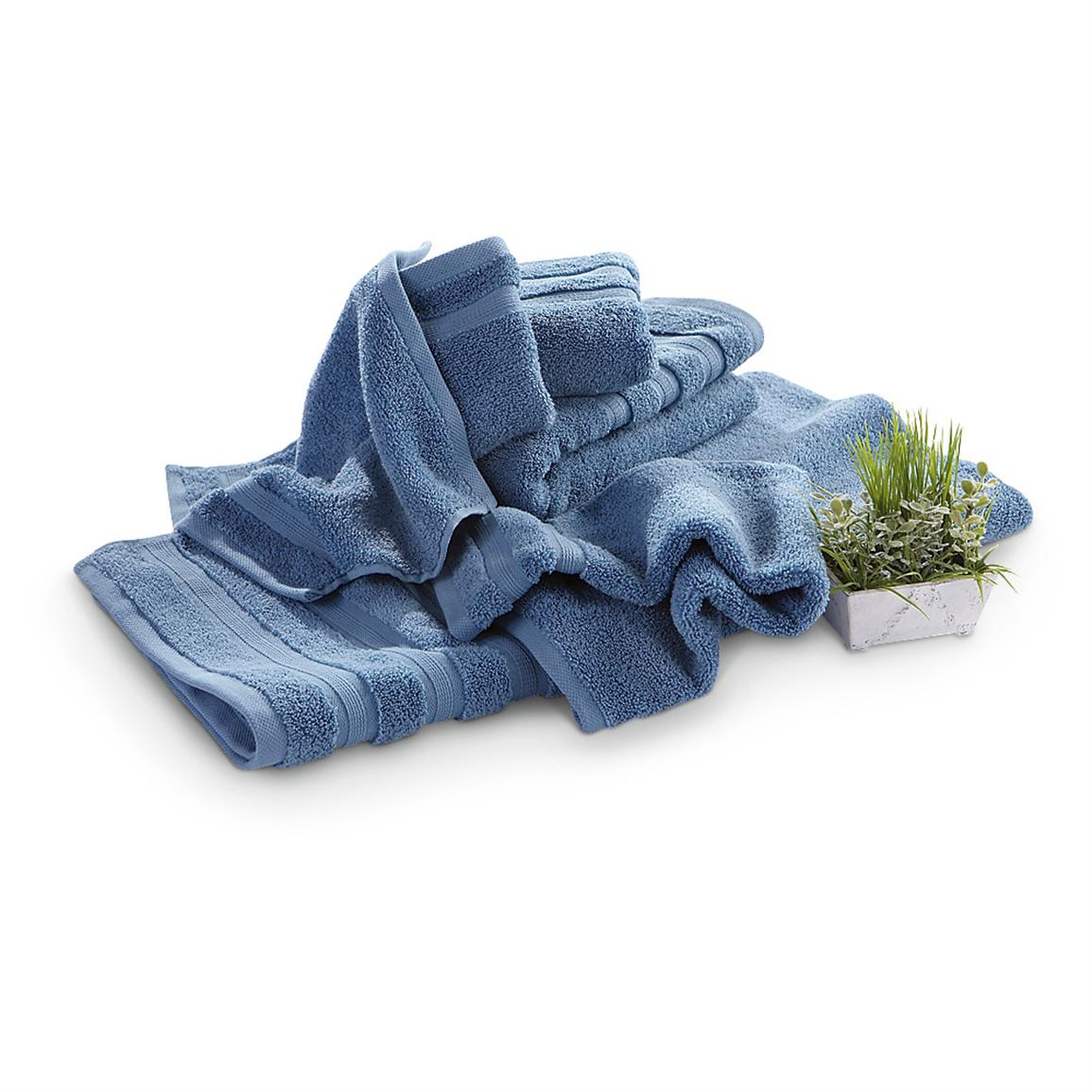 6-Pc. Zero Twist Cotton Bath Set, Baltic