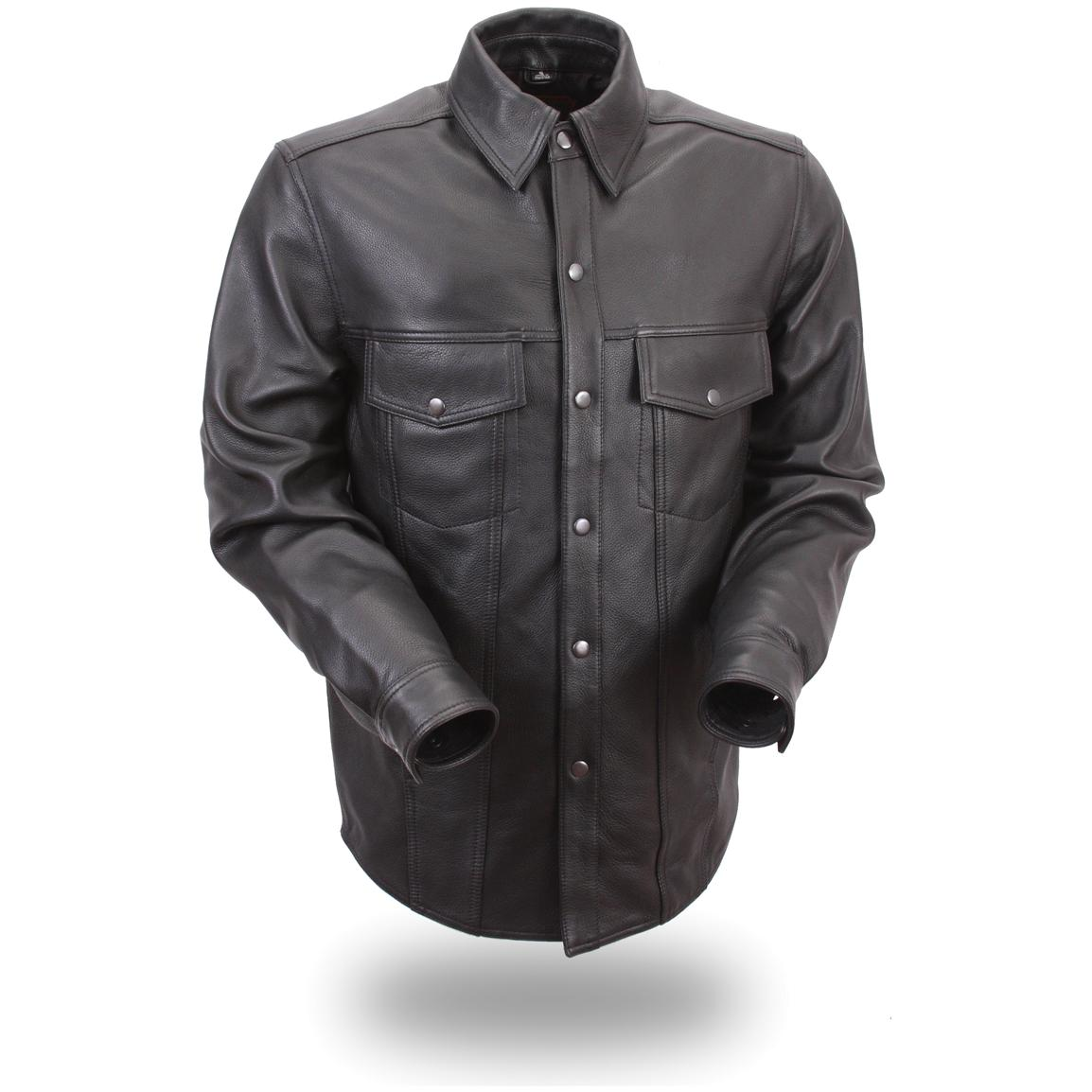 Men's First Classic® Lightweight Leather Shirt, Black