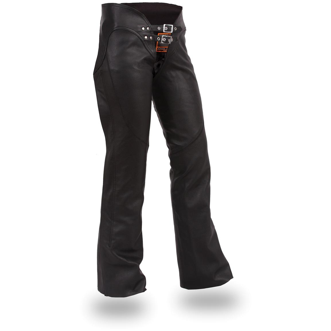 Women's First Classics® Double-belted Chaps with Adjustable Thigh Fitting, Black