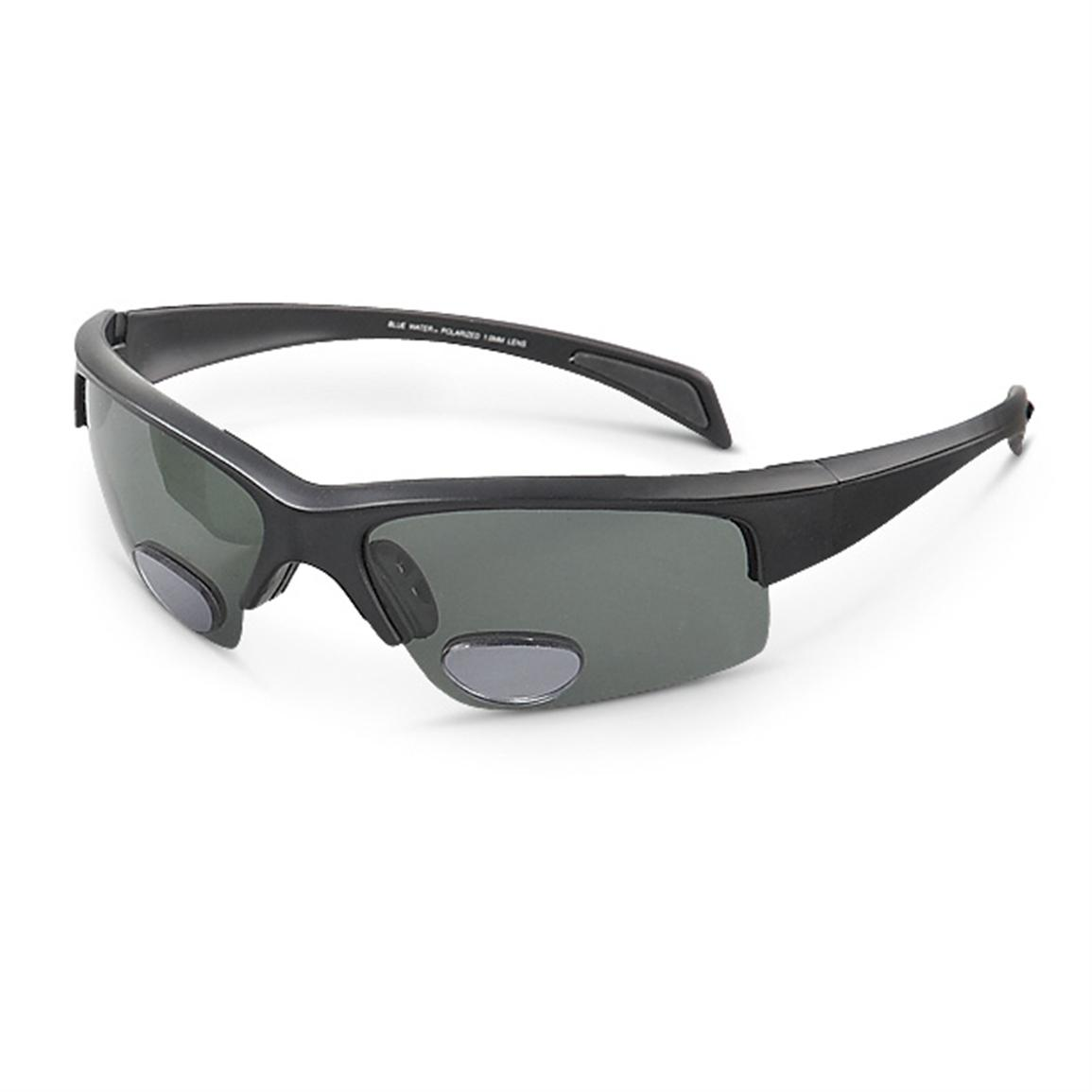 BlueWater Polarized Bifocal Sunglasses, Half Frame
