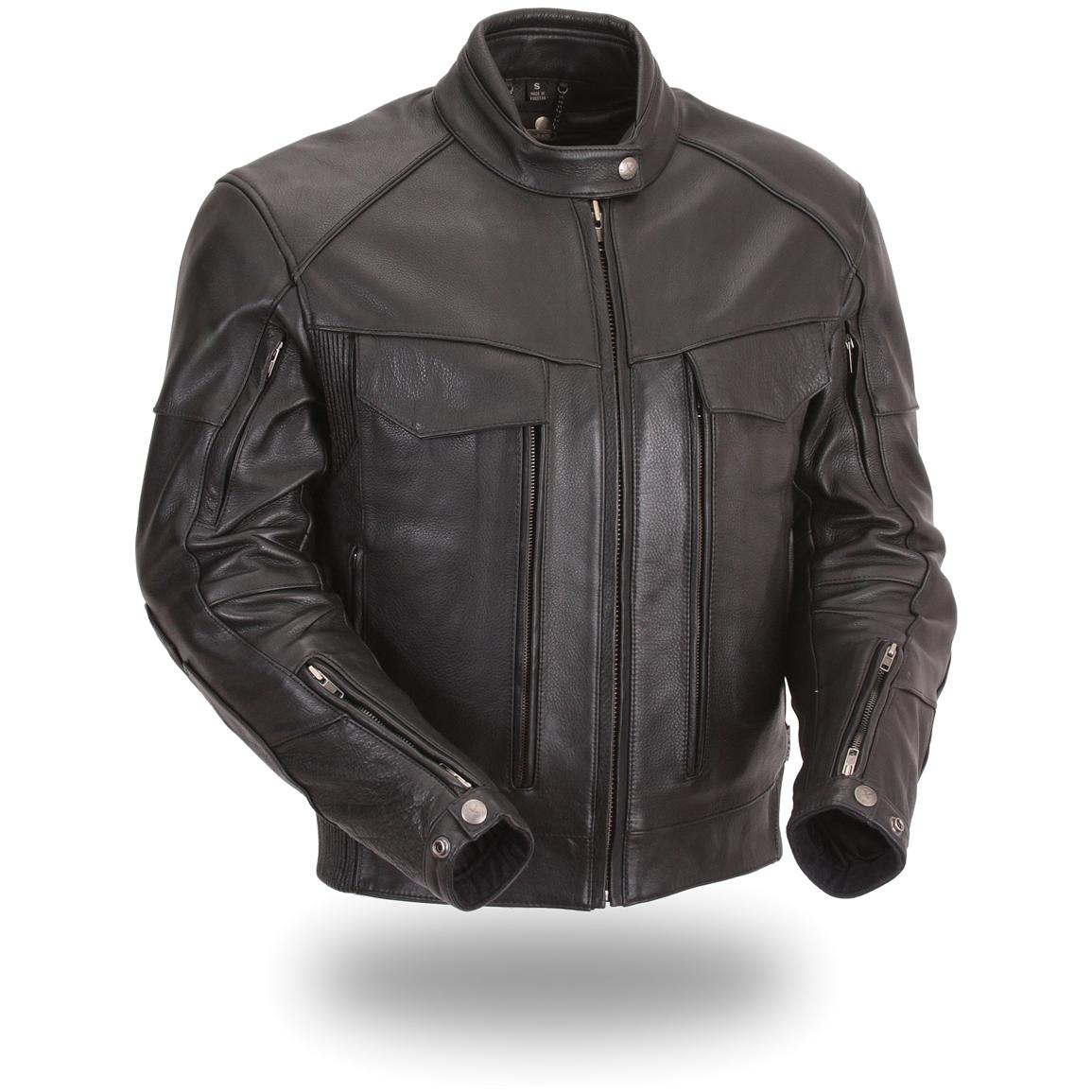 Men's Xpert Performance® Dual Utility Pocket Vented Scooter Jacket, Black