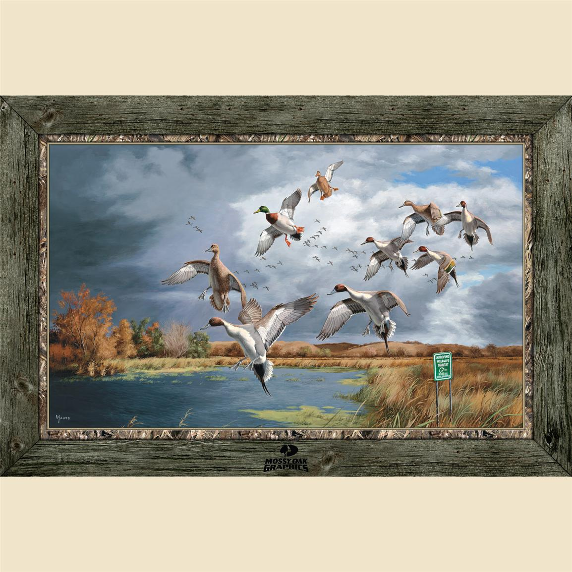 Pintails and Mallards Framed Indoor Wall Graphic, Fruits of Your Labor