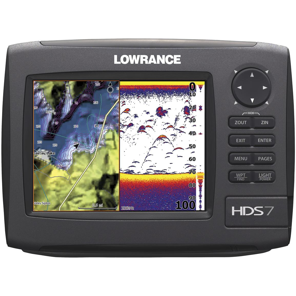Lowrance® HDS-7 Gen 2 Fishfinder / GPS Chartplotter with Insight USA™ Maps & 50 / 200 kHz Transducer