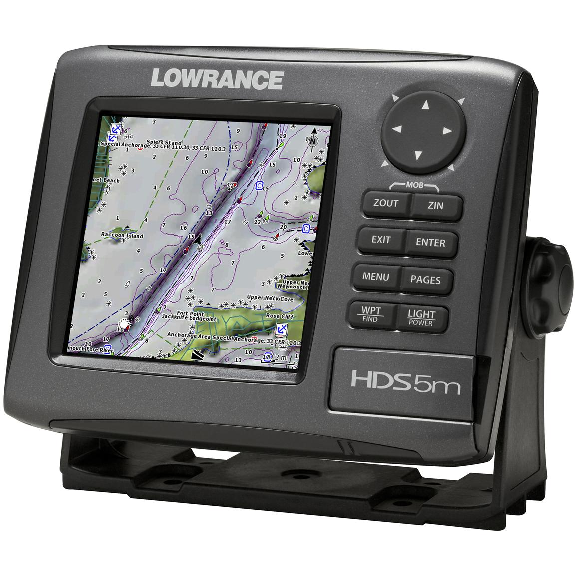 Lowrance® HDS-5m Gen 2 GPS Chartplotter with Nautic Insight™ Maps