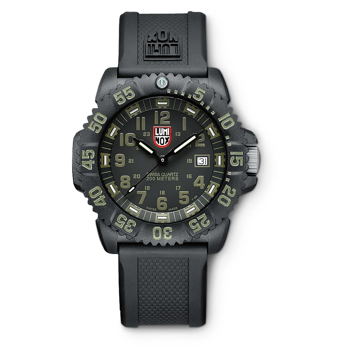 Luminox Navy SEAL Watch, Black / Olive • Exclusive
