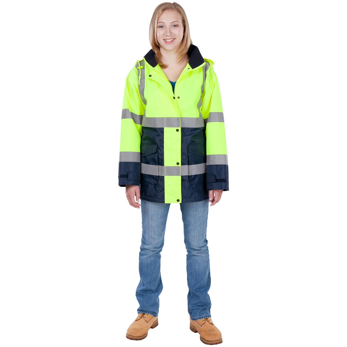Women's Utility Pro Wear High Visibility Jacket, Hi Vis Yellow / Navy