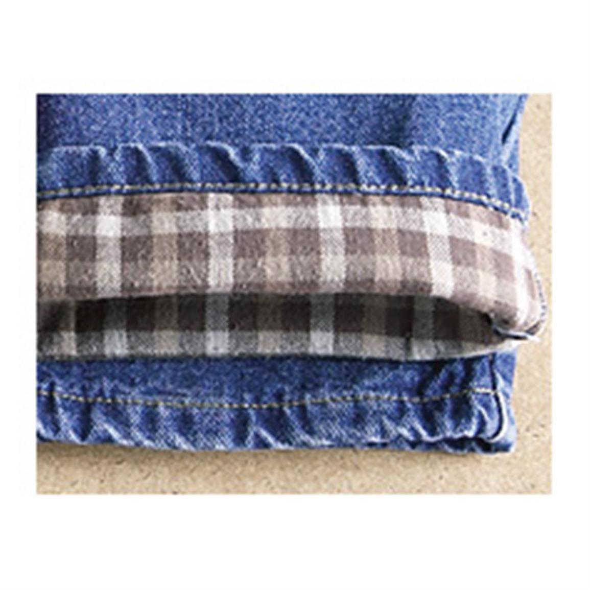 Flannel lining gives you warmth that fits right
