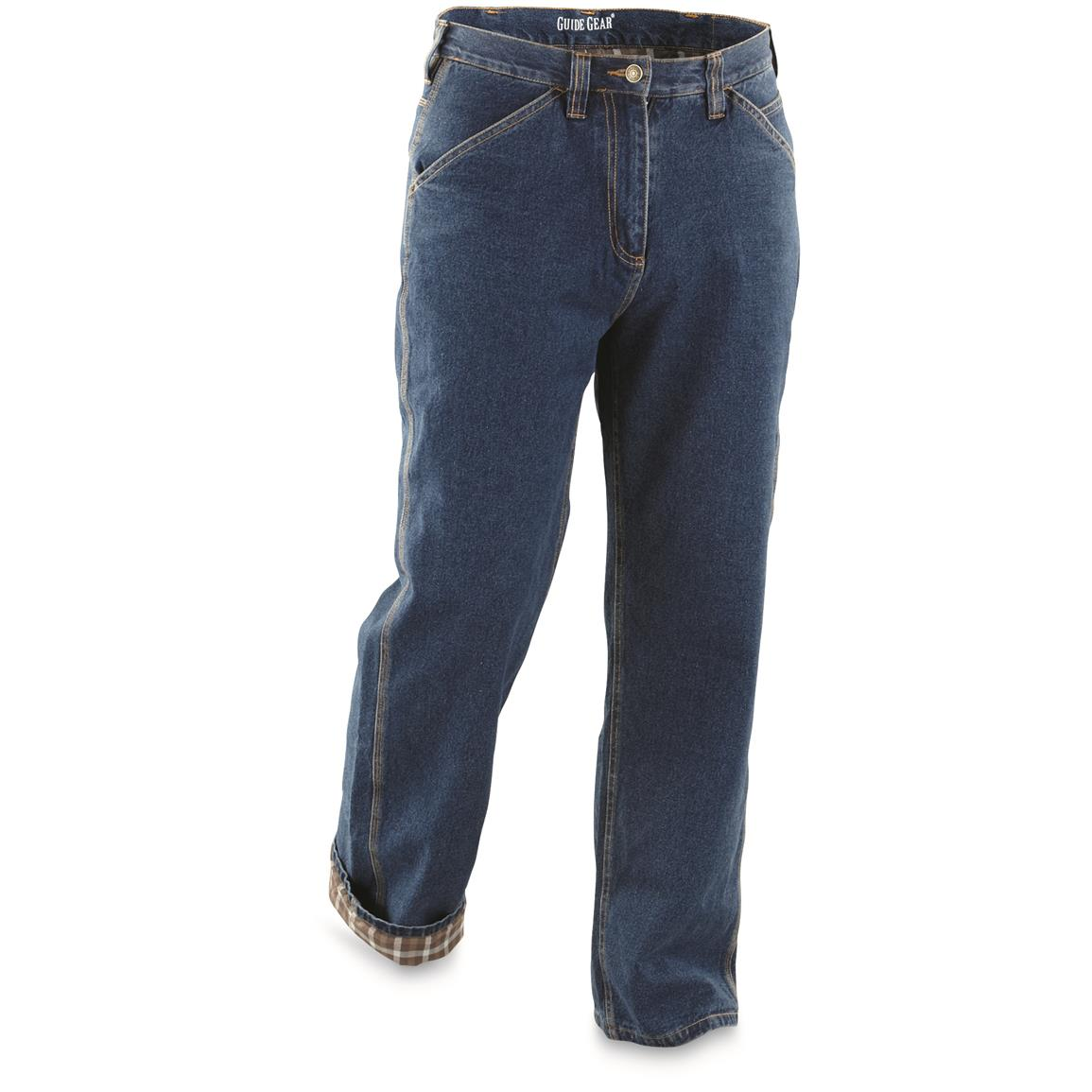 Guide Gear Men's Flannel-Lined Carpenter Jeans
