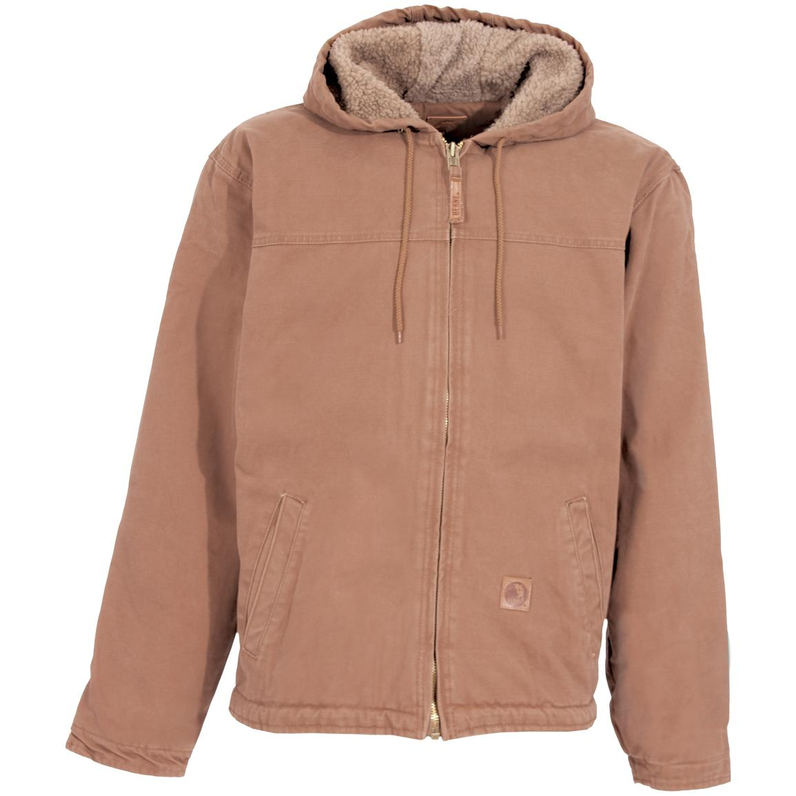 Men's Berne® Sanded Hooded Work Jacket, Hickory