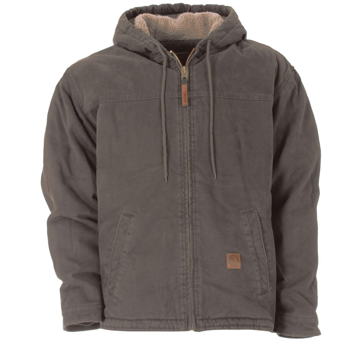 Men's Berne® Sanded Hooded Work Jacket, Graystone