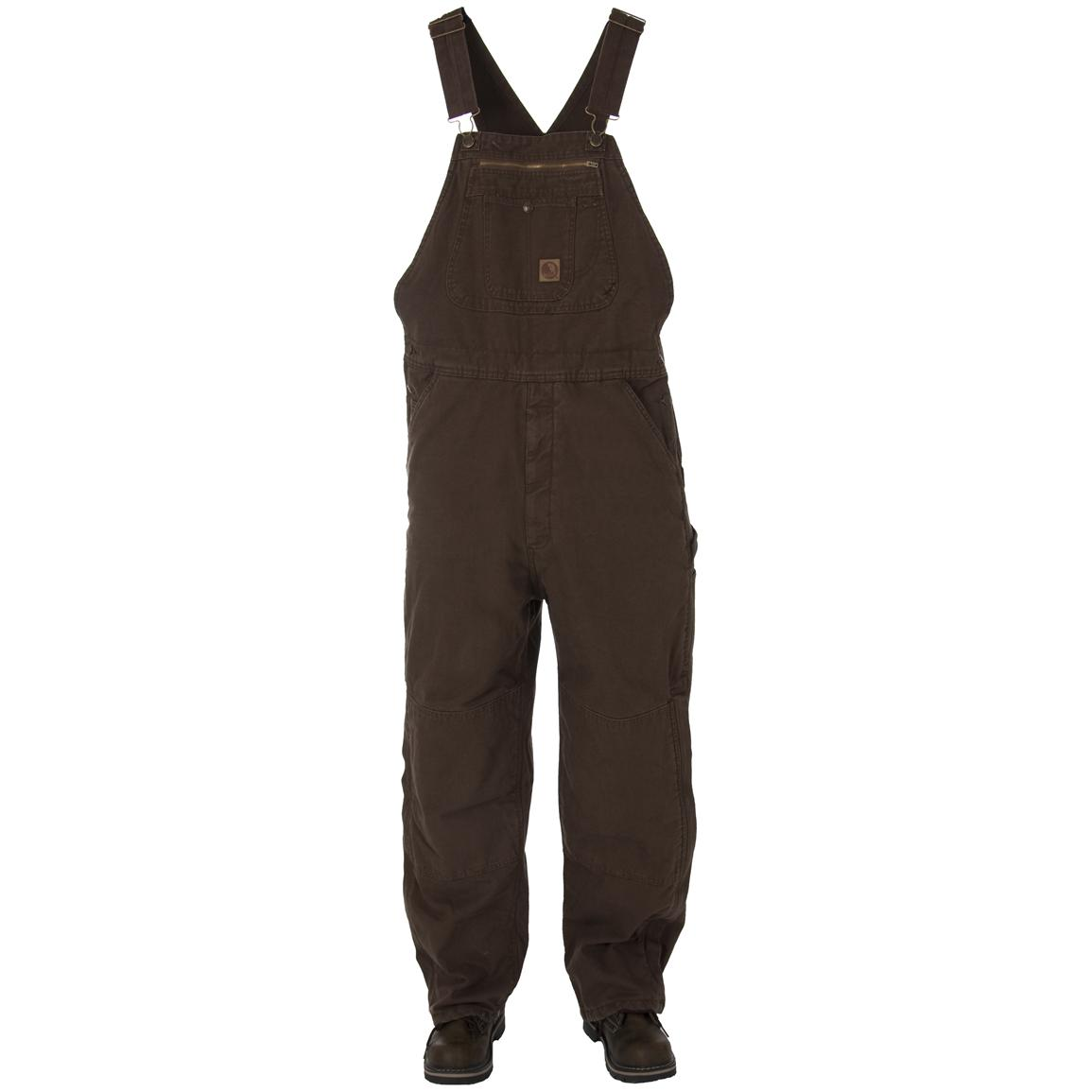 Men's Berne® Traditional Washed Insulated Bib Overalls, Bark