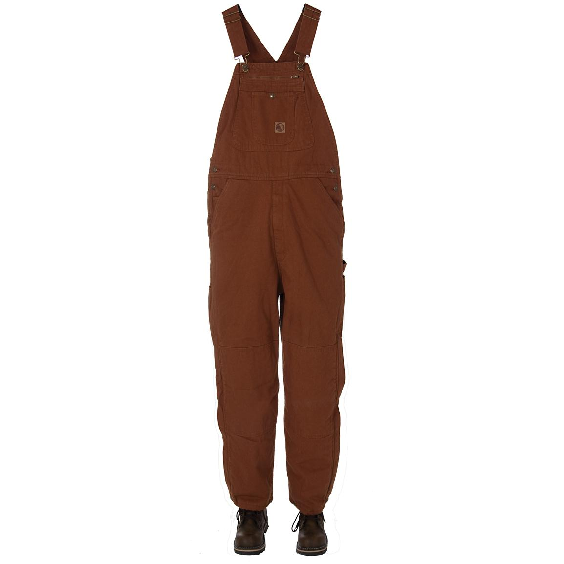 Men's Berne® Traditional Washed Insulated Bib Overalls, Tobacco
