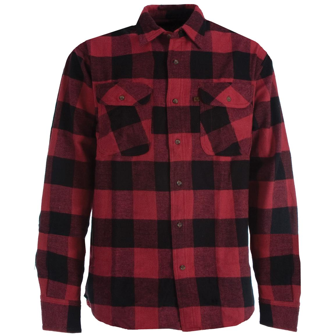men 39 s berne heavyweight flannel work shirt 221599