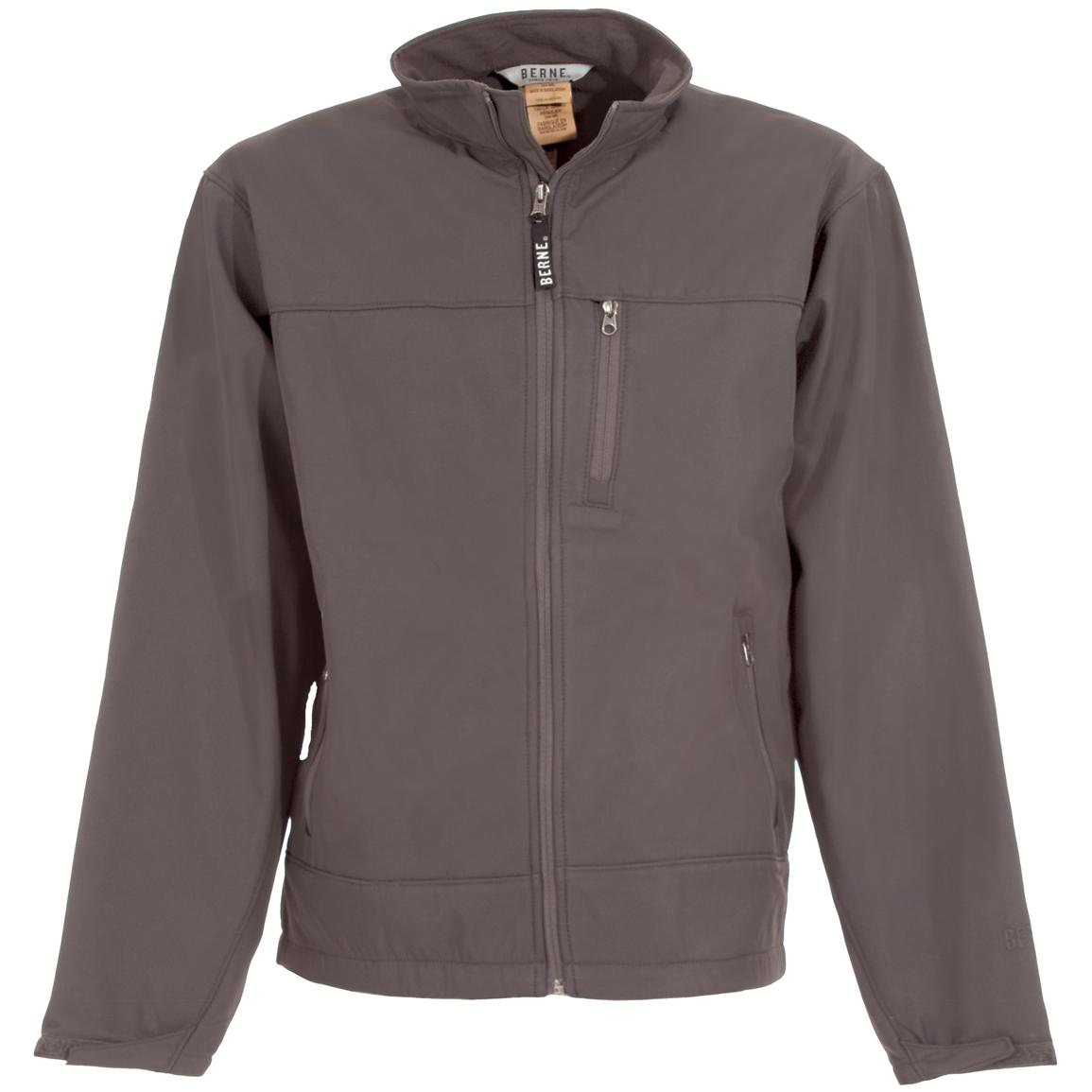 Men's Berne® Soft Shell Jacket, Grey