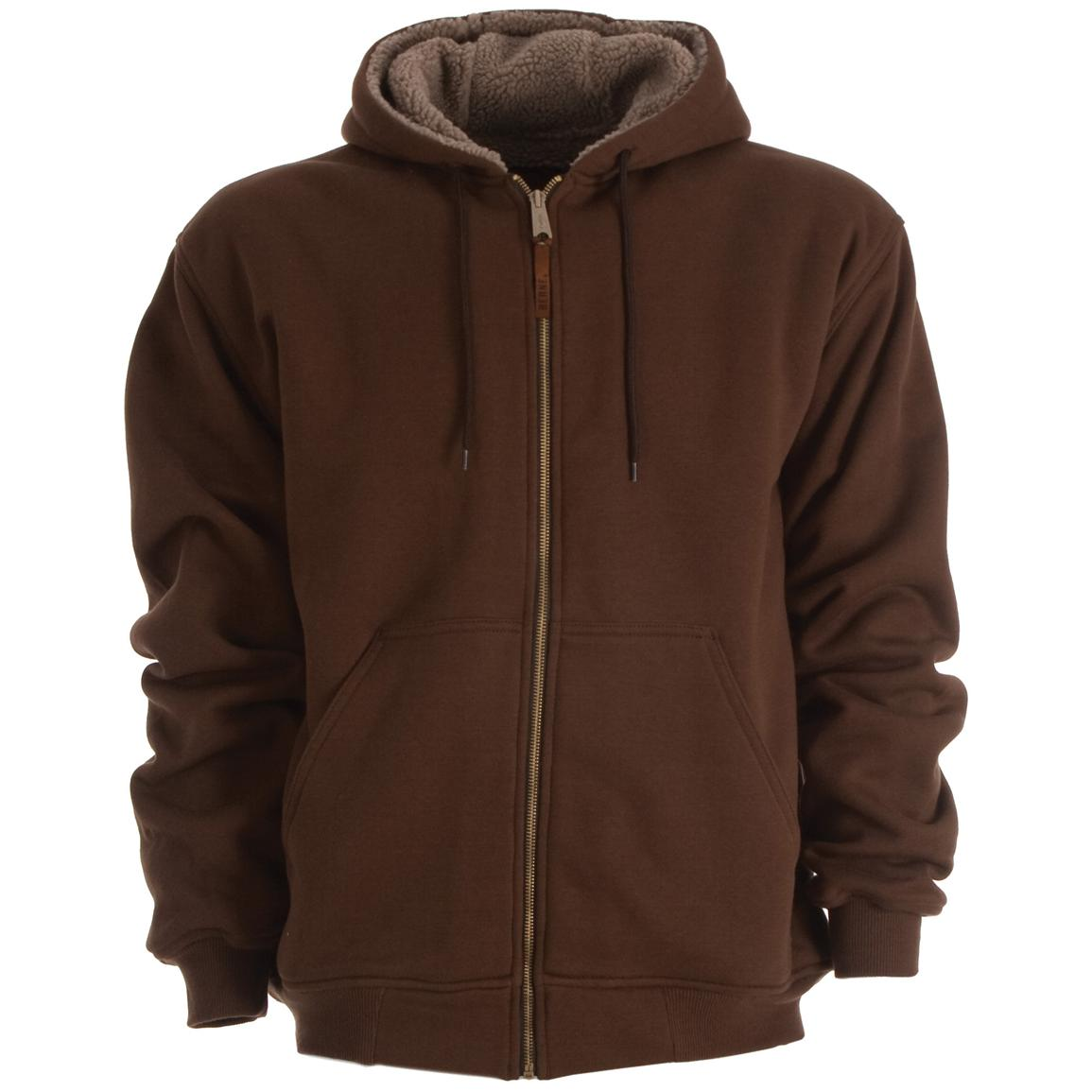 Sherpa - lined Zip Hoodie from Berne® - 221606, Sweatshirts ...