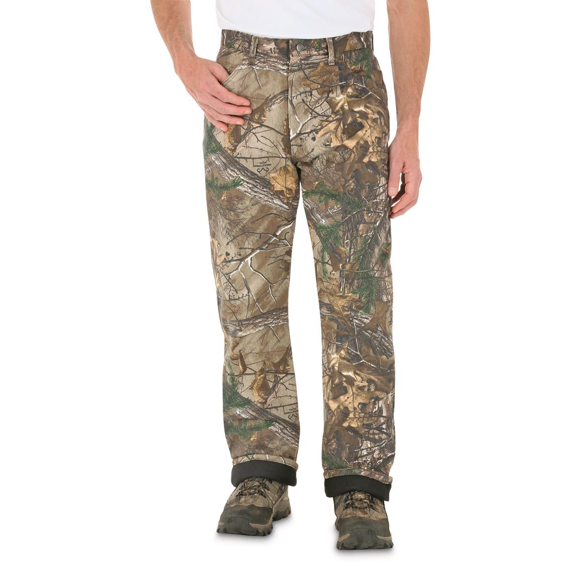 Wrangler Men's ProGear Thermal Jeans, Realtree Xtra