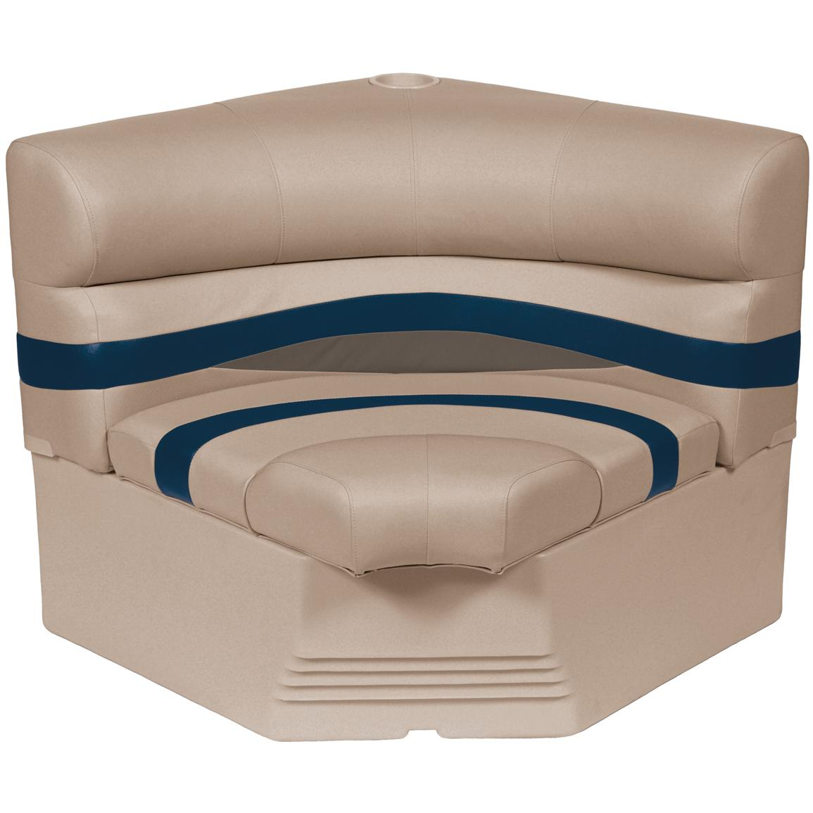 Wise® Premier 1100 Series 32 inch Pontoon Radius Corner Seat, Color D