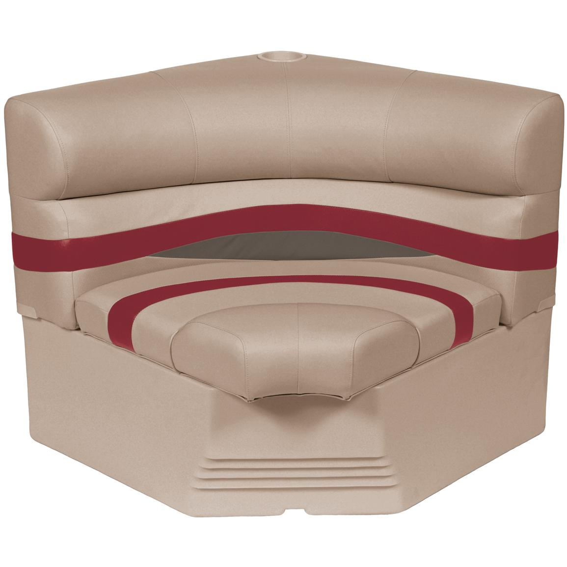 Wise® Premier 1100 Series 32 inch Pontoon Radius Corner Seat, Color E