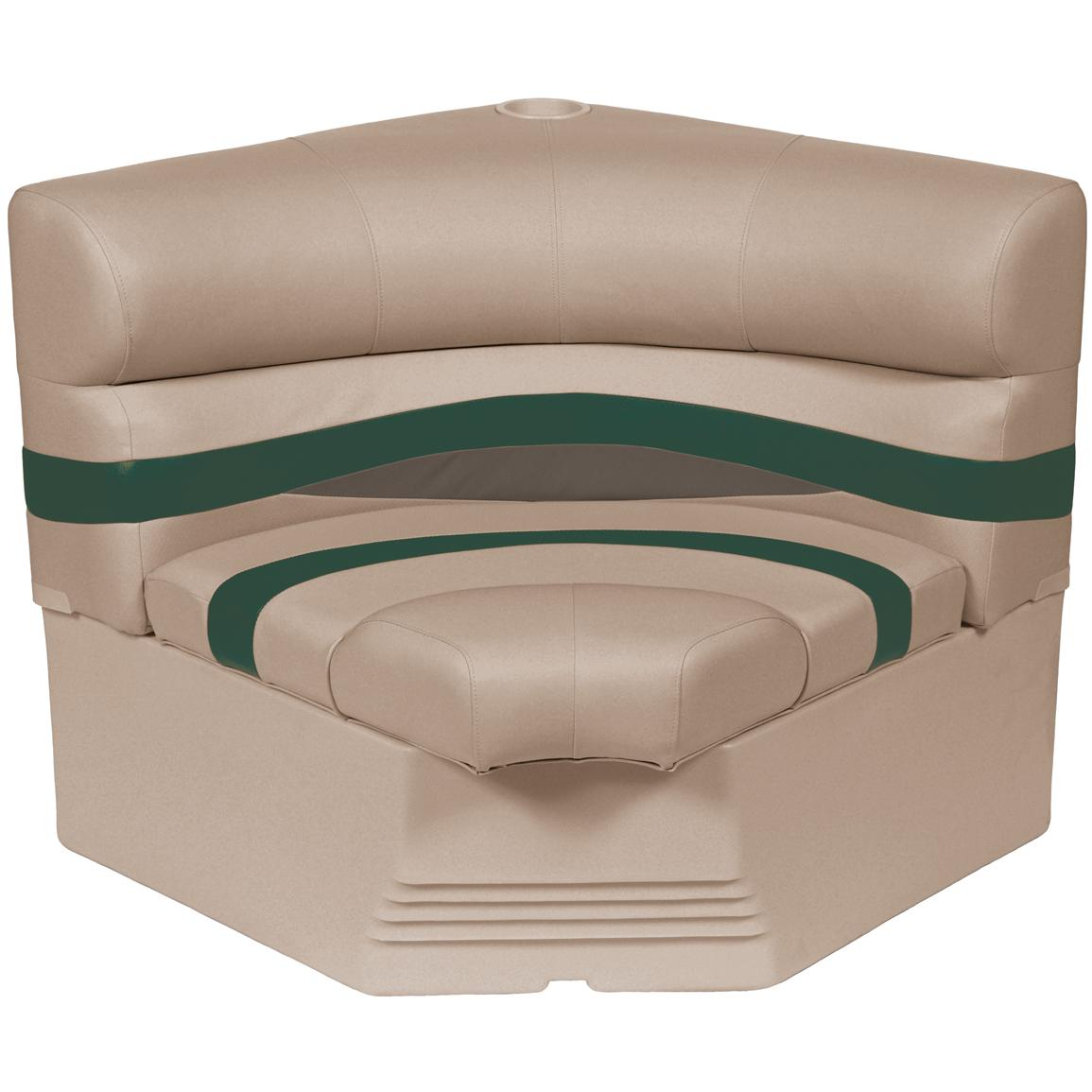 Wise® Premier 1100 Series 32 inch Pontoon Radius Corner Seat, Color F