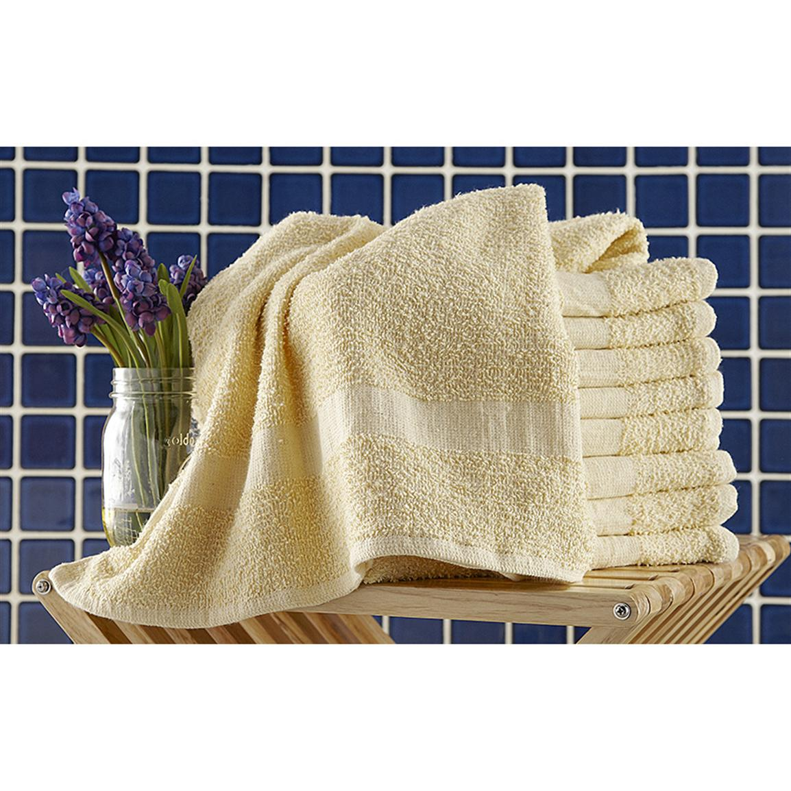 9-Pk. of Cotton Terry Towels, Yellow