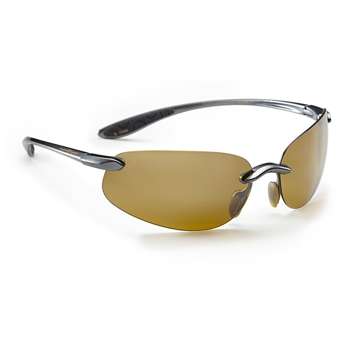Eagle Eyes® Apollo Gold Series Phoenix Blade Sunglasses, Gunmetal