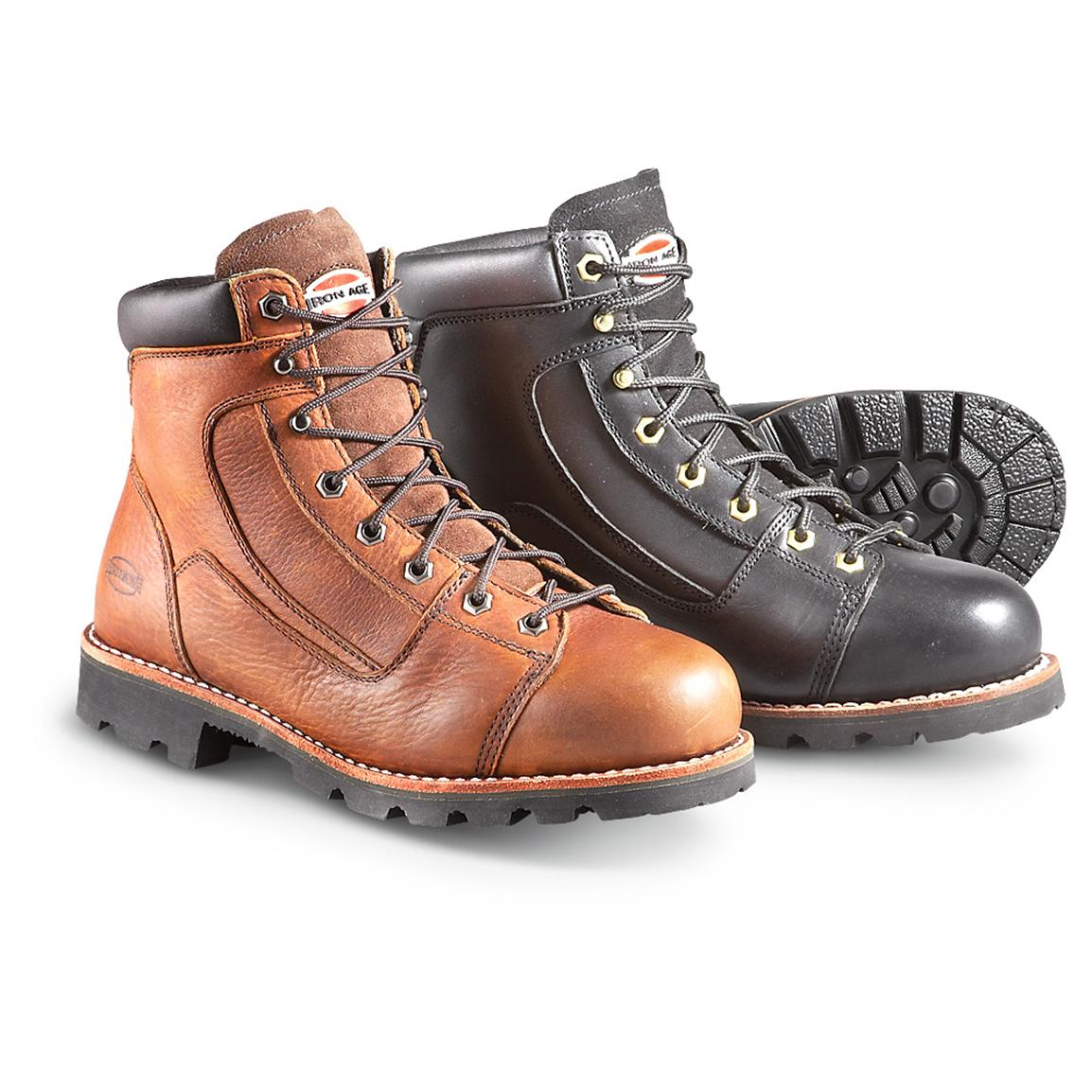 "Men's Iron Age® 6"" Loader Steel Toe Work Boots"
