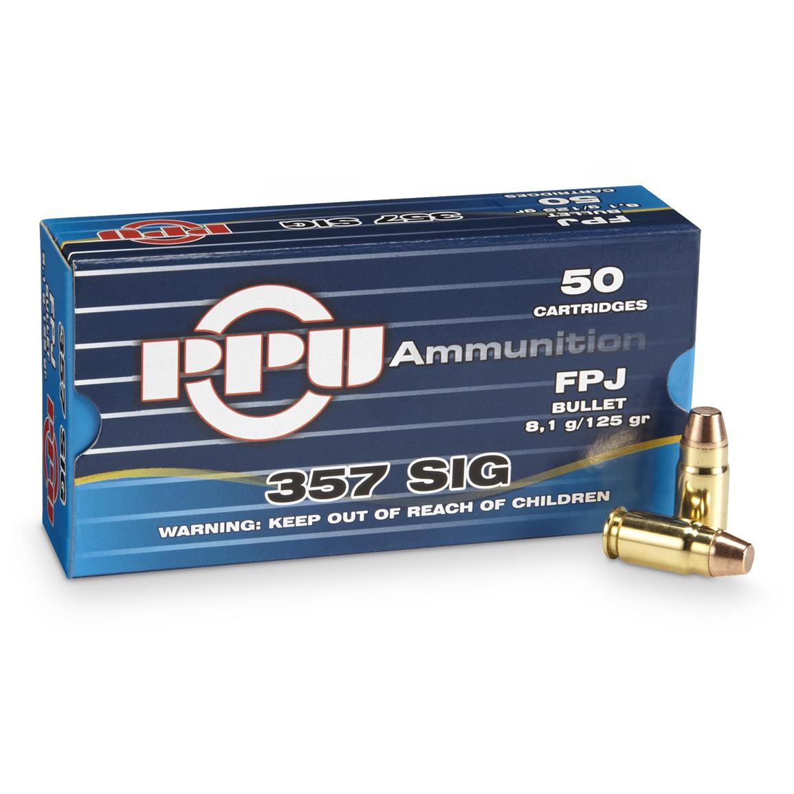PPU .357 Sig. 125 Grain FPJ 50 rounds