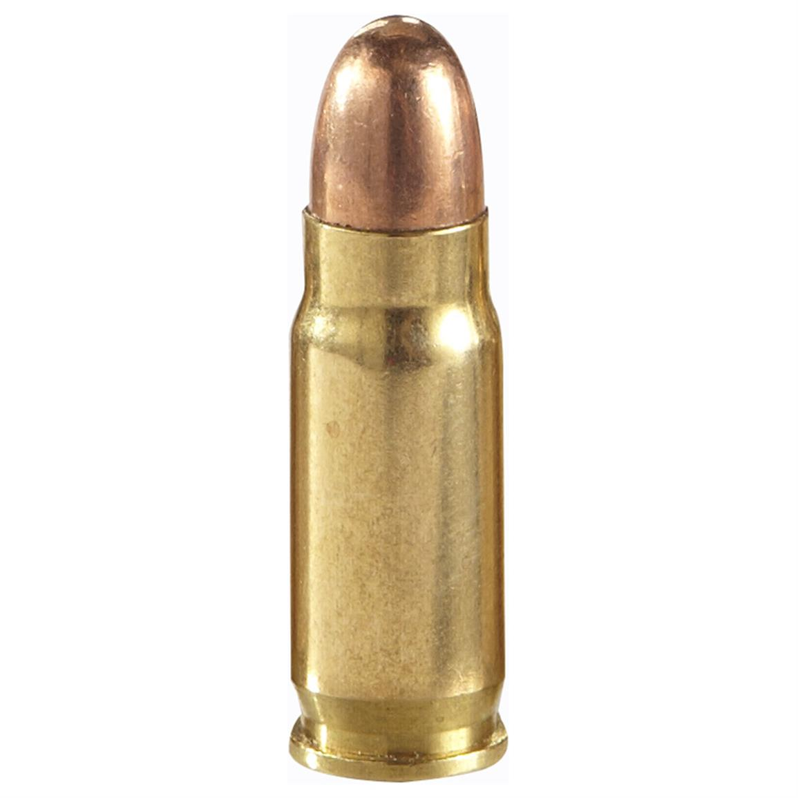 New, boxer-primed, non-corrosive. Reloadable brass case.