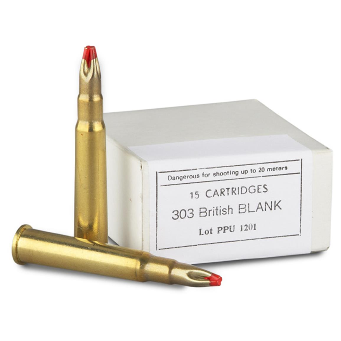 15 rds. PPU .303 British Extended Blank Ammo