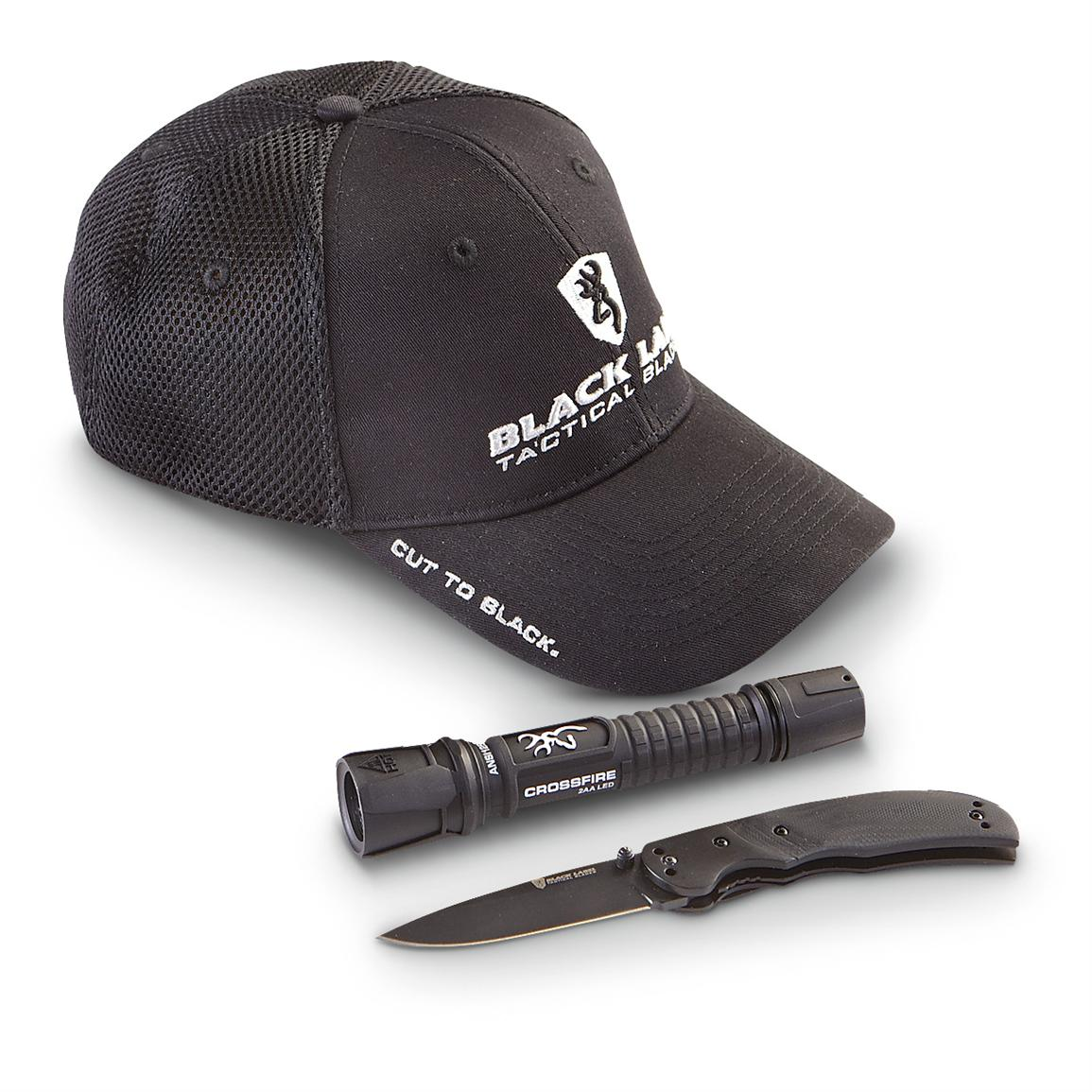 Browning® Cut to Black Knife / Light / Cap Combo