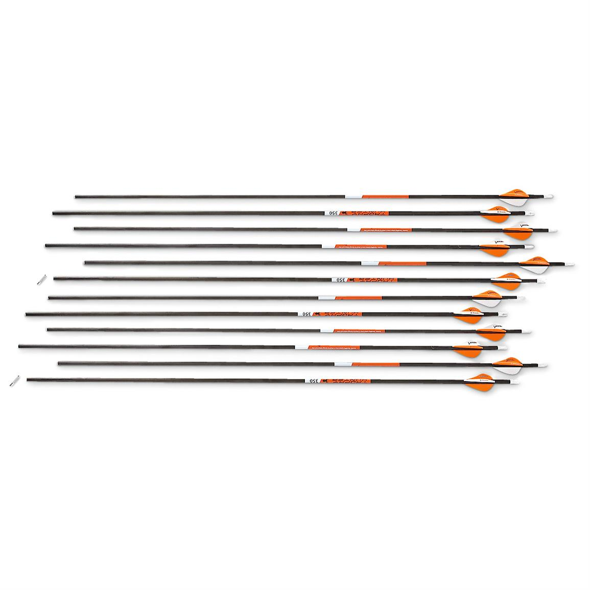 Victory Trophy Hunter 350 Arrows, 12-Pack