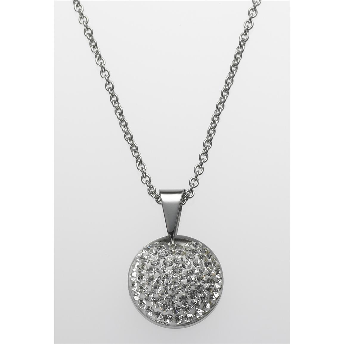 STEELX® Crystal Pave Pendant with 18 inch Chain