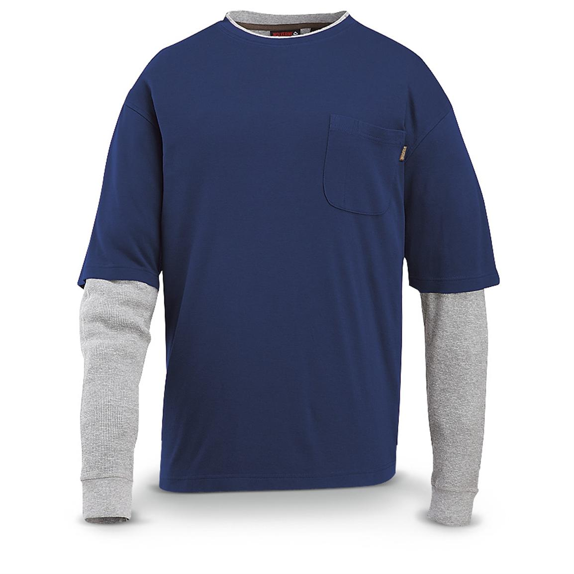Wolverine® Long-sleeved Miter T-shirt, Navy