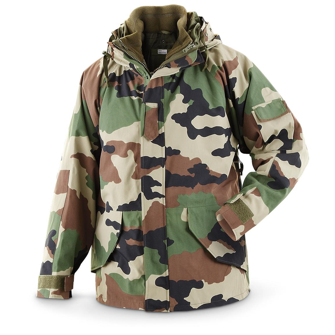 French Mil.-style Waterproof Parka, CCE Camo