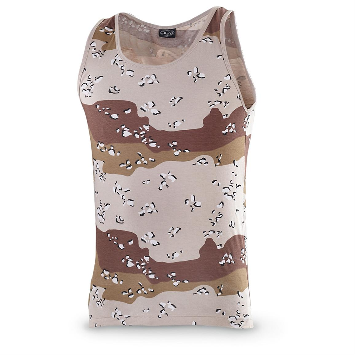 2 Mil-Tec® Military-style Tank Tops, 6-color Desert Camo