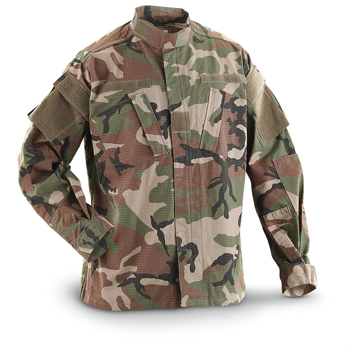 Mil-Tec® Military-style PCRS Jacket, Woodland Camo