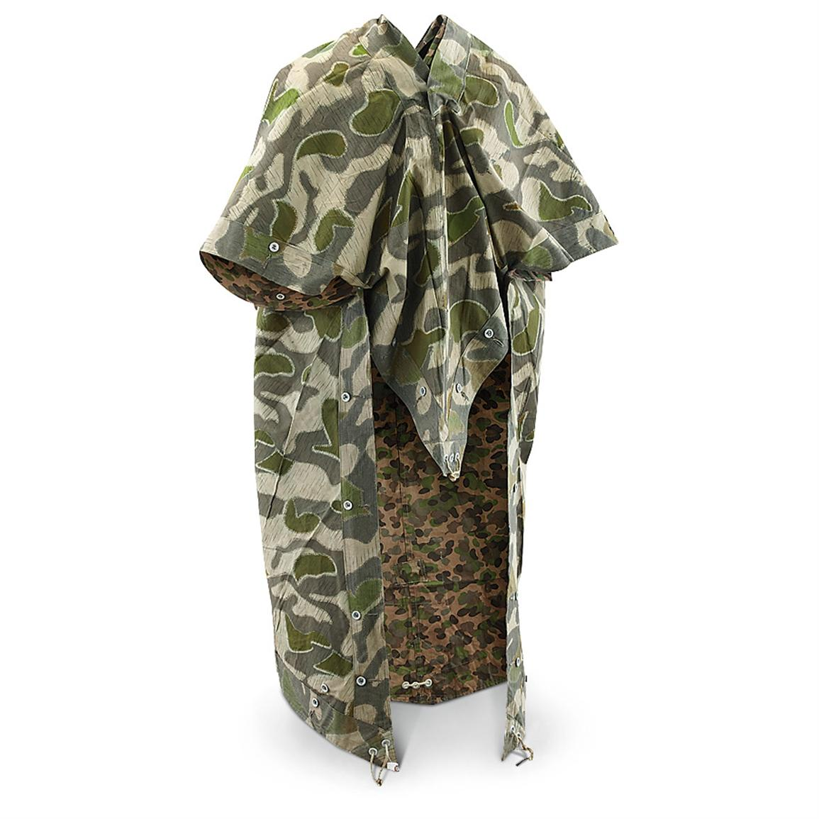 Used Austrian Military Shelter Half, Camo