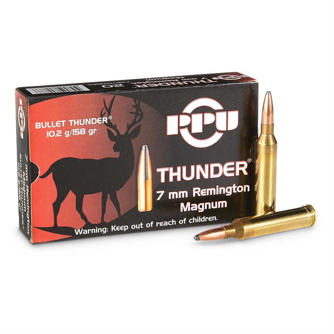 PPU Thunder® 7mm Rem.® Mag. 158 Grain Rifle Ammo, 20 Rounds