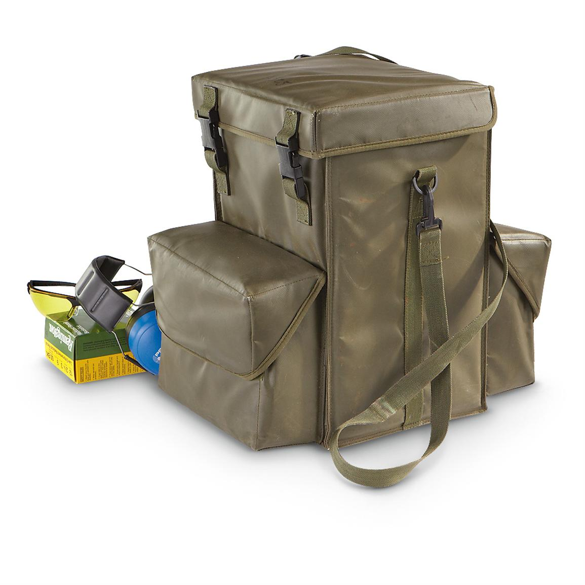 Used U.S. Military Surplus Padded Case, Olive Drab; 2,888-cu. in. capacity
