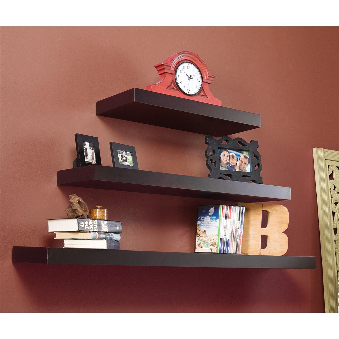 Cadence Floating Shelves, Espresso