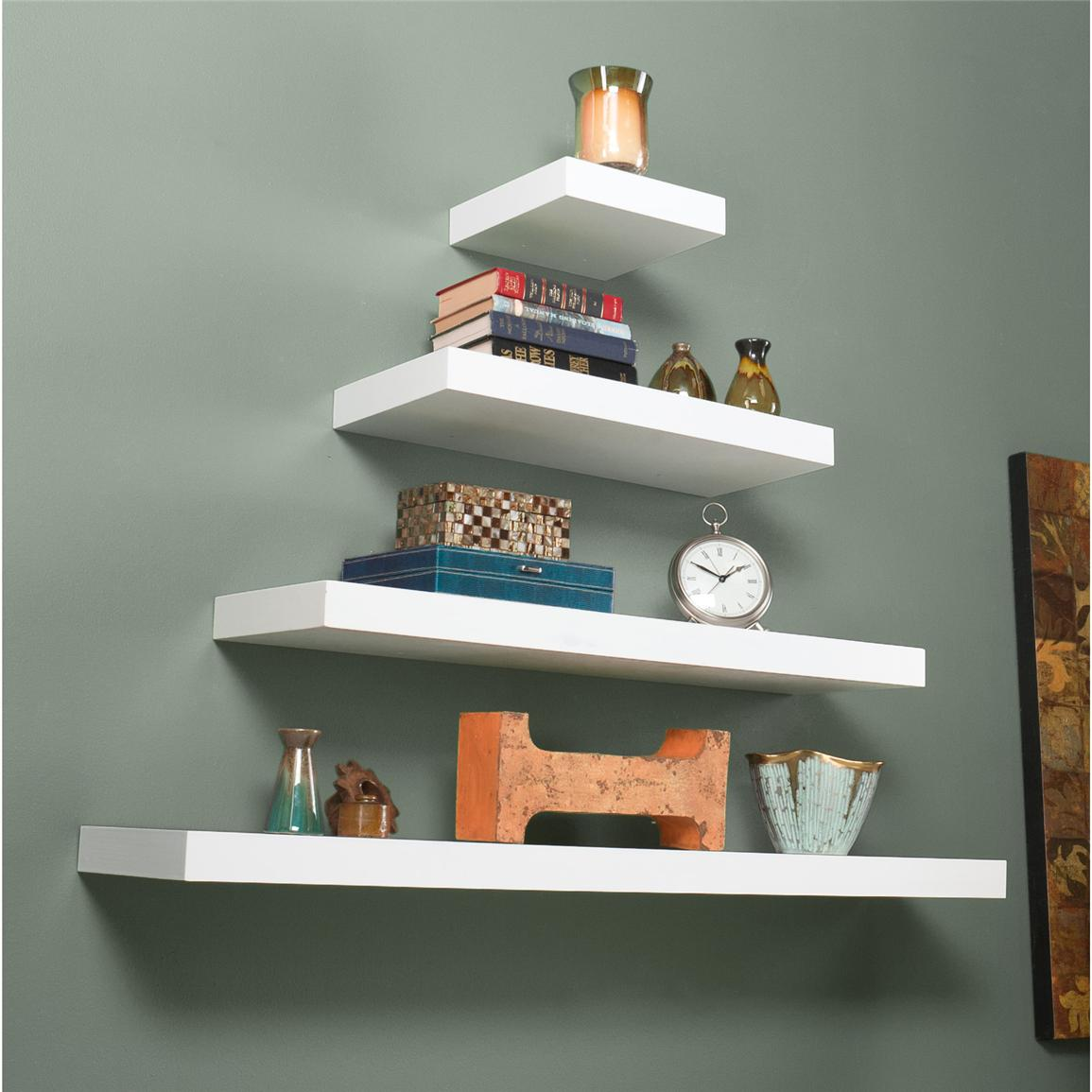 Cadence Floating Shelves, White