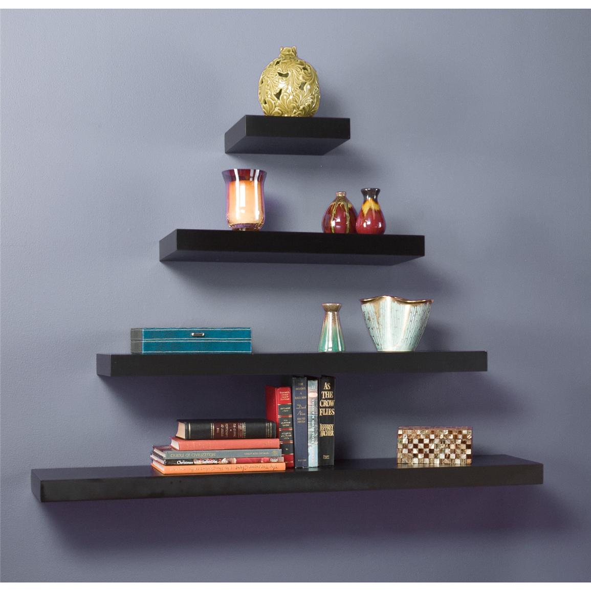Cadence Floating Shelves, Black