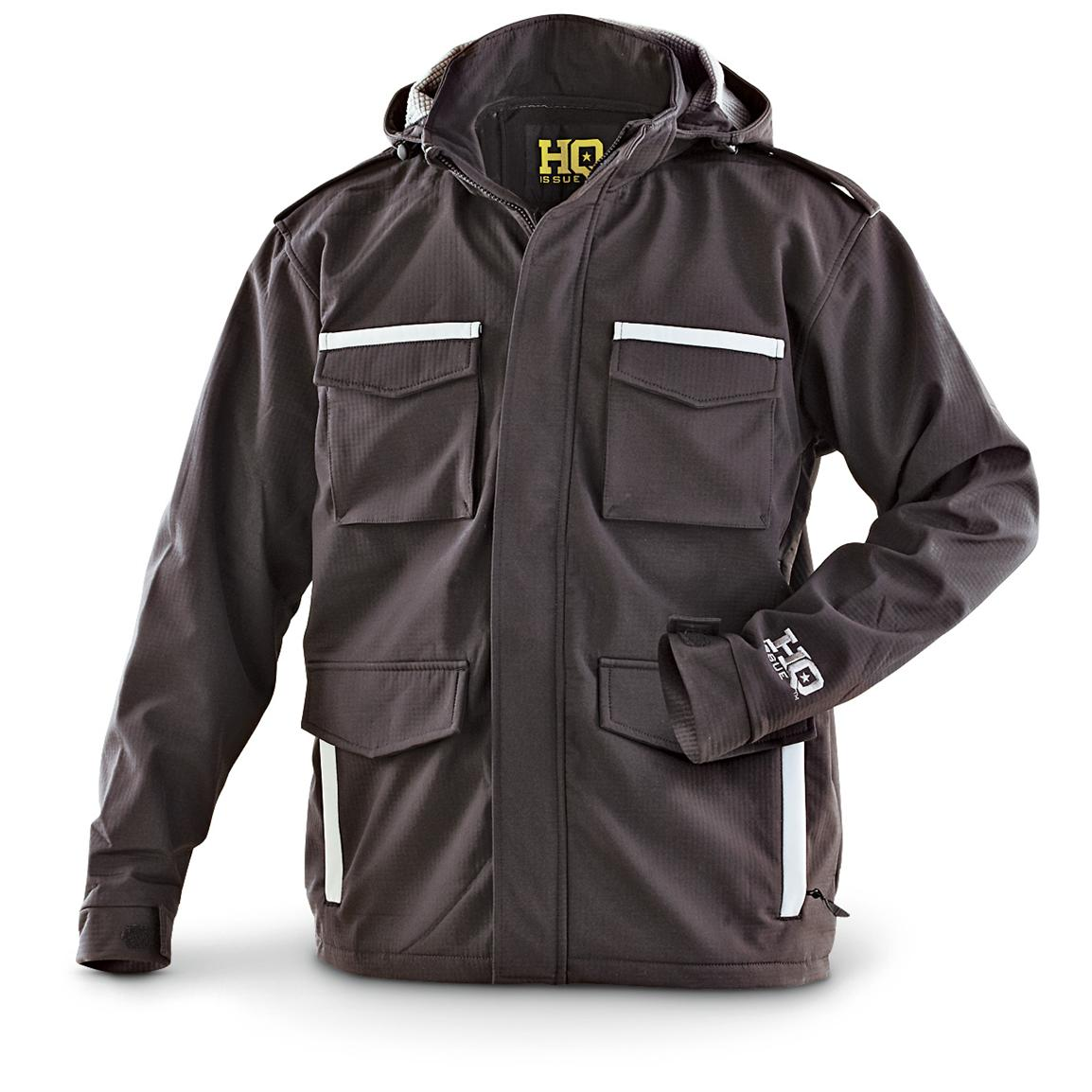 HQ ISSUE® Military-style Grid Jacket, Black