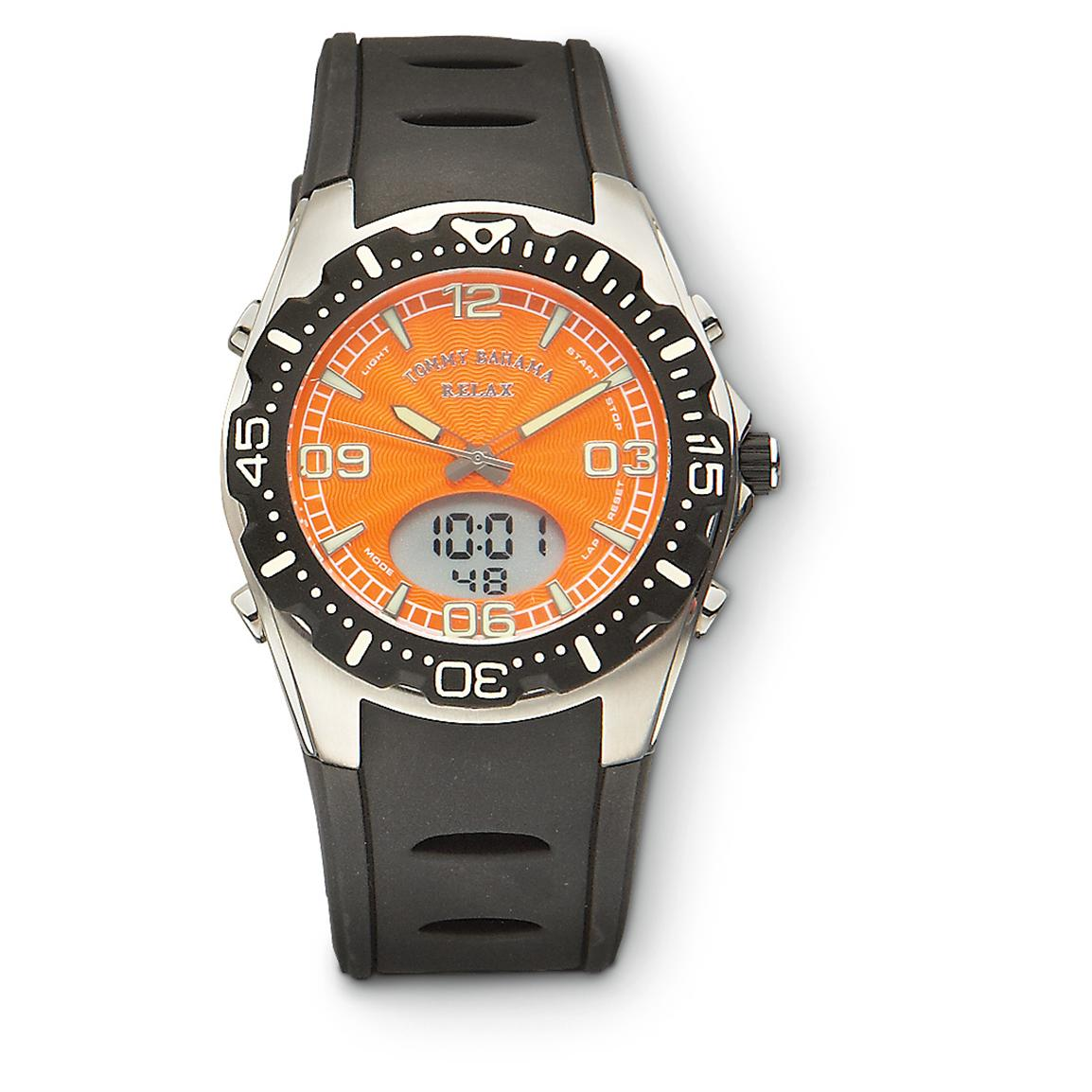 Tommy Bahama™ Chronograph Dive-style Watch, Orange