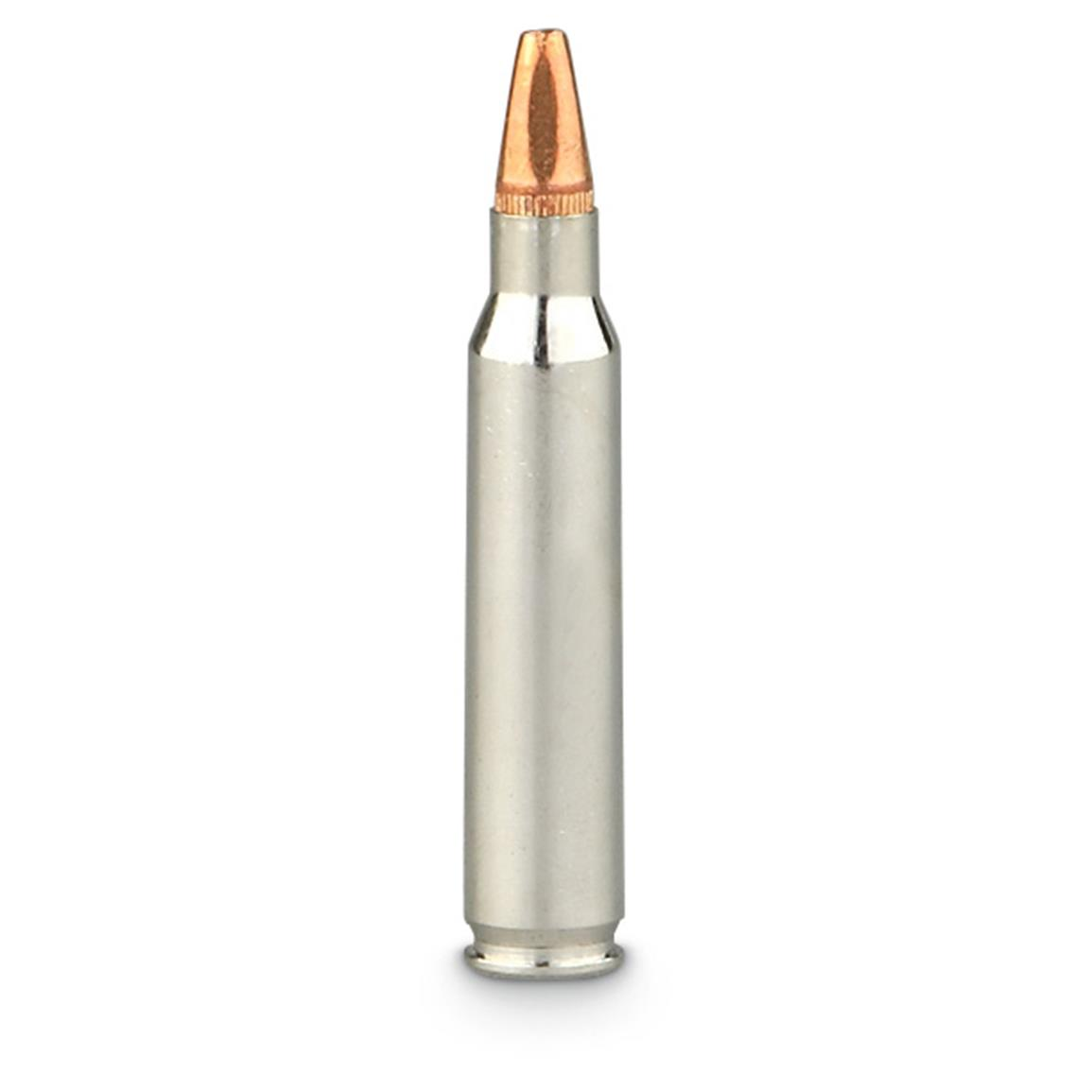 Lead-free, beveled-profile, hollow point bullet