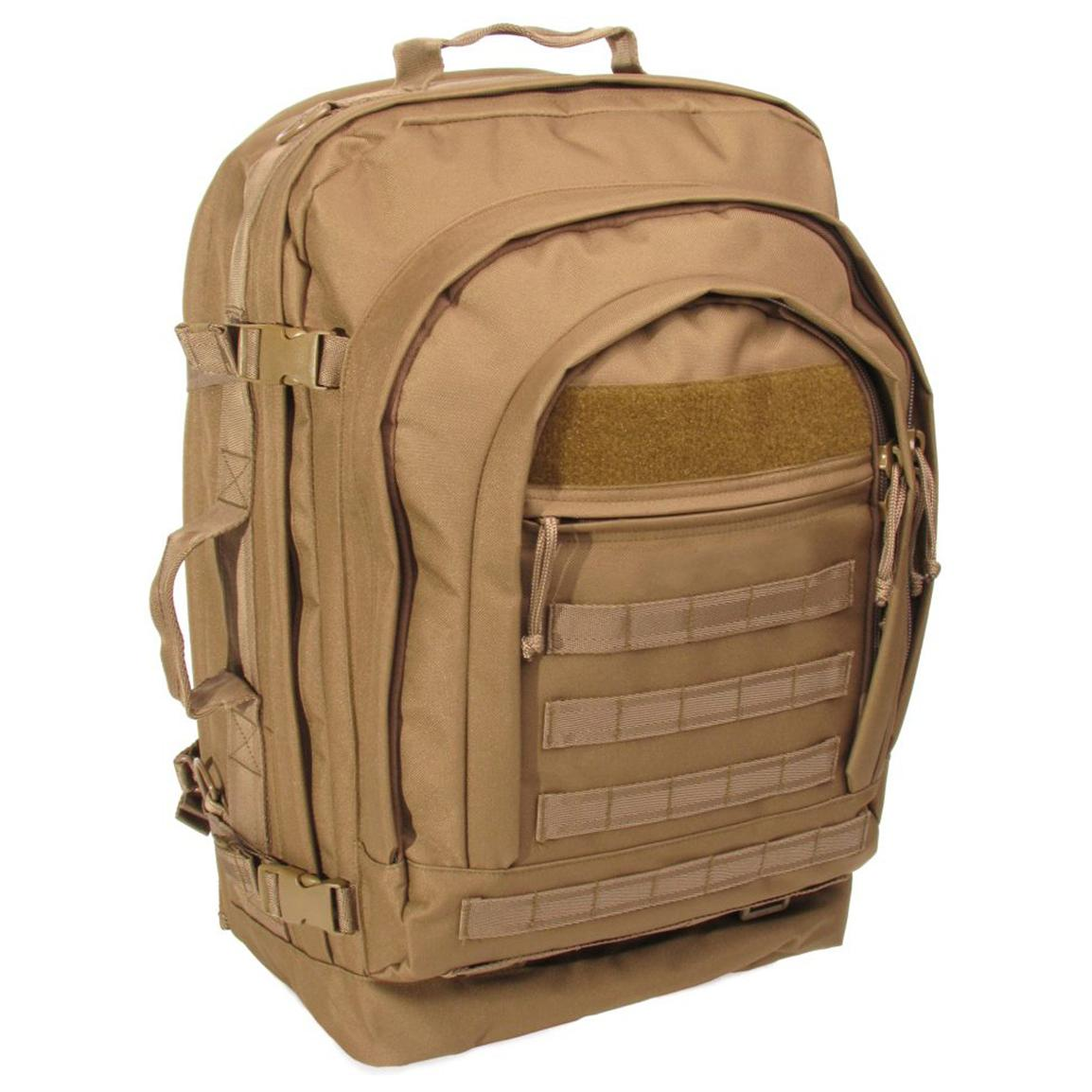 S.O.C.® 600D Poly / Canvas Bug Out Bag, Coyote Brown