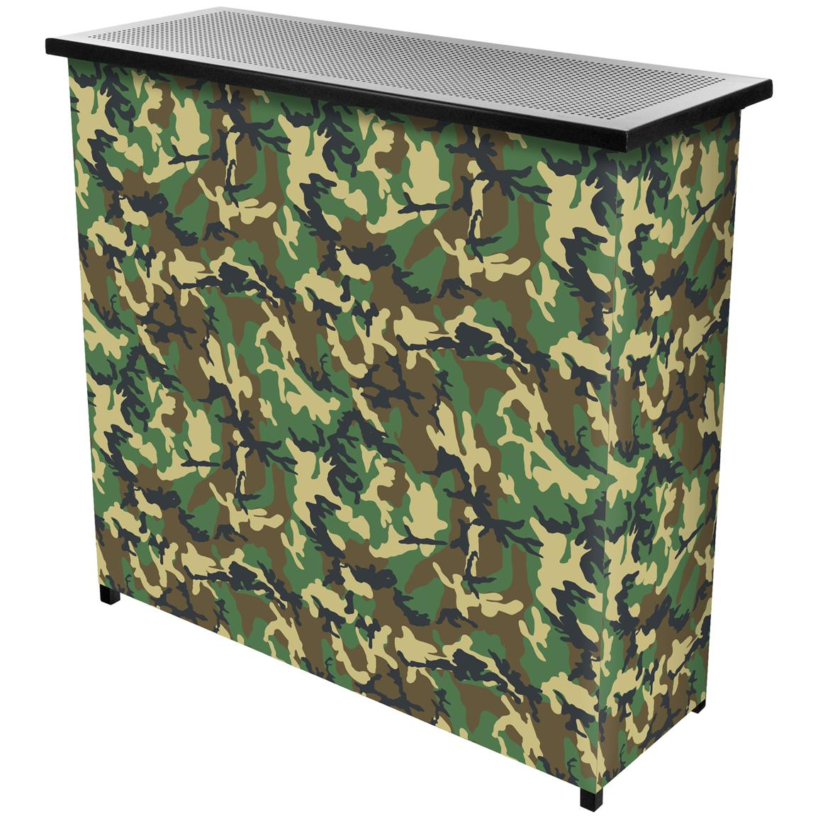 Trademark® Hunt Camo 2-Shelf Portable Bar with Case
