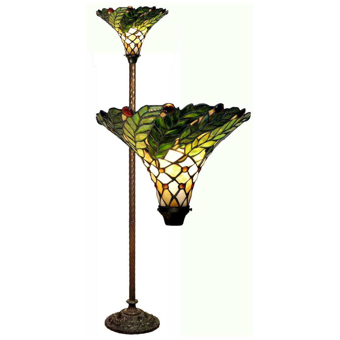 Warehouse of Tiffany® Leafy Torchiere